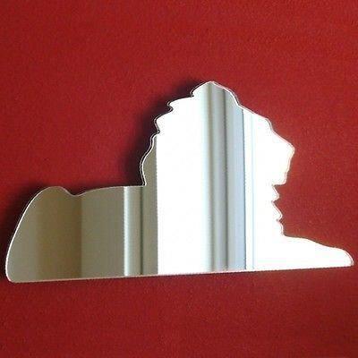 Miroir sphinx lion en acrylique 35 cm x 18 cm achat for Miroir acrylique incassable