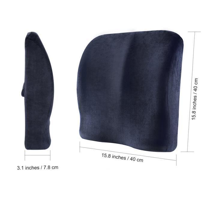 langria coussin de si ge et coussin lombaire m moire de forme ergonomique double utilisation. Black Bedroom Furniture Sets. Home Design Ideas