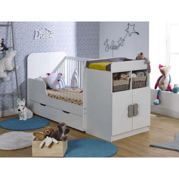 lit volutif combin madrid blanc loupiot 2017 achat. Black Bedroom Furniture Sets. Home Design Ideas