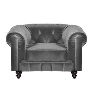 fauteuil gris tissu achat vente fauteuil gris tissu pas cher cdiscount. Black Bedroom Furniture Sets. Home Design Ideas