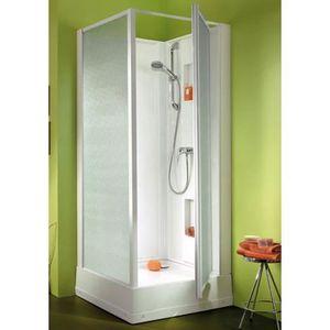 Cabine de douche porte pivotante achat vente cabine de for Porte douche pivotant