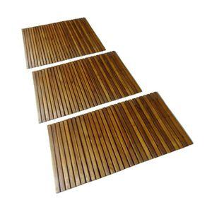 tapis de salle de bain en bois achat vente tapis de salle de bain en bois pas cher soldes. Black Bedroom Furniture Sets. Home Design Ideas