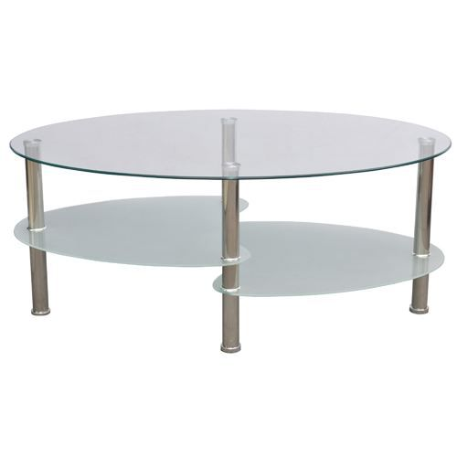 Table Basse Ovale Verre Blanc Achat Vente Table Basse