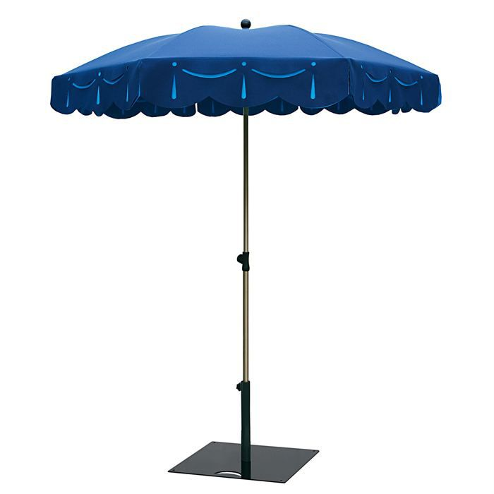 Parasol classique pampille de 3 m2 marine et bleu achat for Portent un parasol dans les jardins