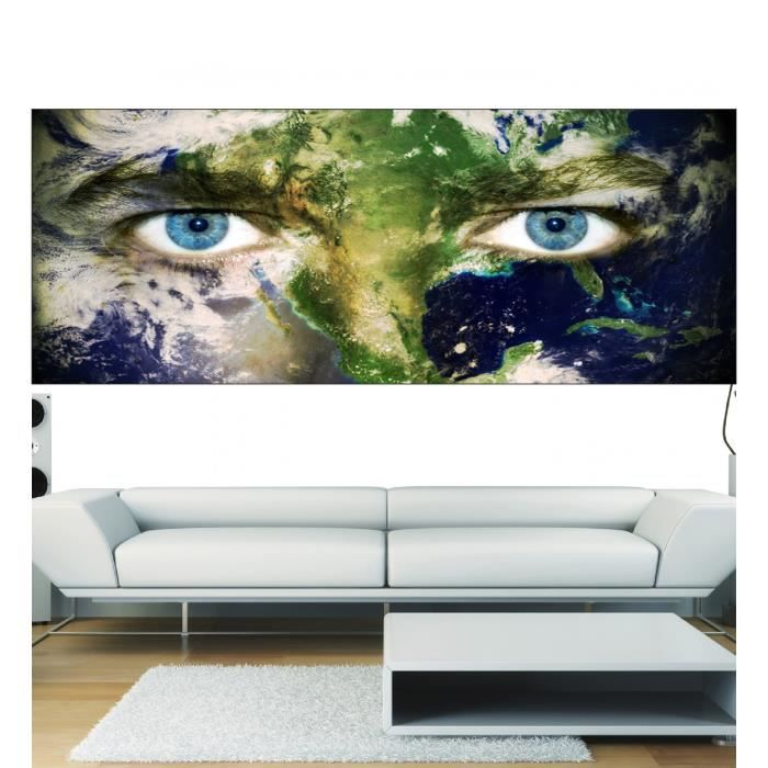 Stickers panoramique d cor yeux plan te dimensions for Decoration yeux