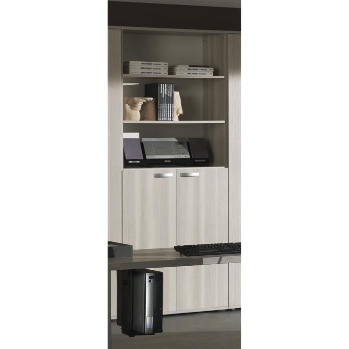 biblioth que pour bureau coloris fr ne gris achat vente biblioth que biblioth que pour. Black Bedroom Furniture Sets. Home Design Ideas
