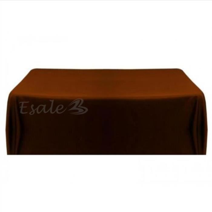 Nappe table noeud chaise satin caf carr pour mariage for Nappe de table carre