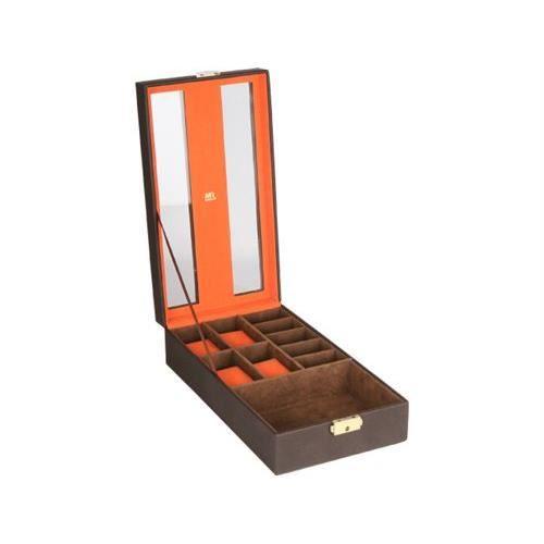 boite a bijoux homme marron interieur orange achat vente boite a bijoux boite a bijoux. Black Bedroom Furniture Sets. Home Design Ideas