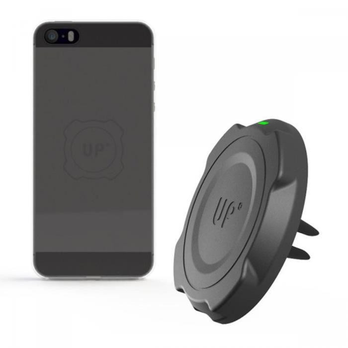 support ventilation auto chargeur induction sans fil aimant iphone 5 5s se noir achat. Black Bedroom Furniture Sets. Home Design Ideas