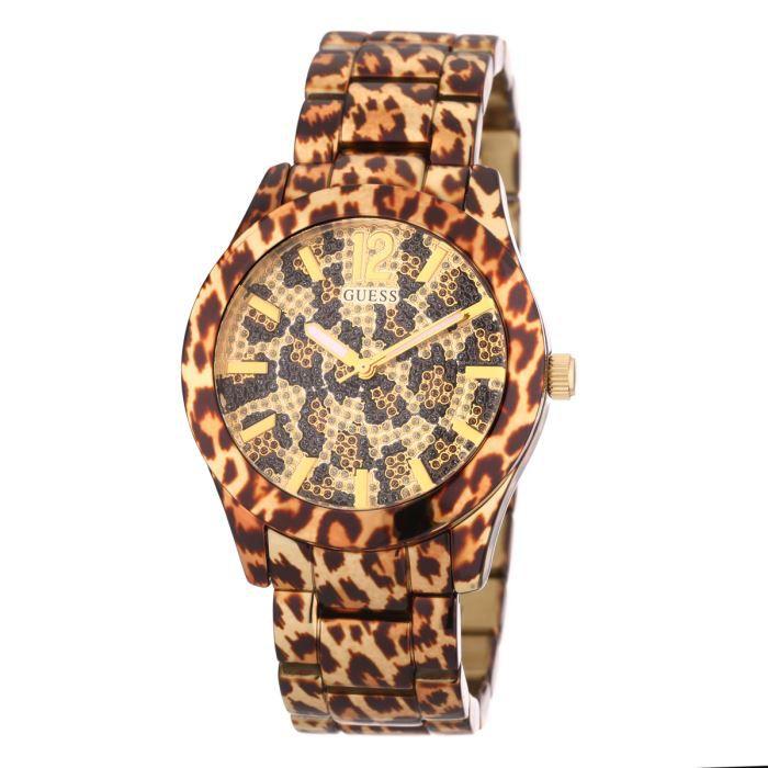 guess montre w0001l2 femme l opard achat vente montre. Black Bedroom Furniture Sets. Home Design Ideas