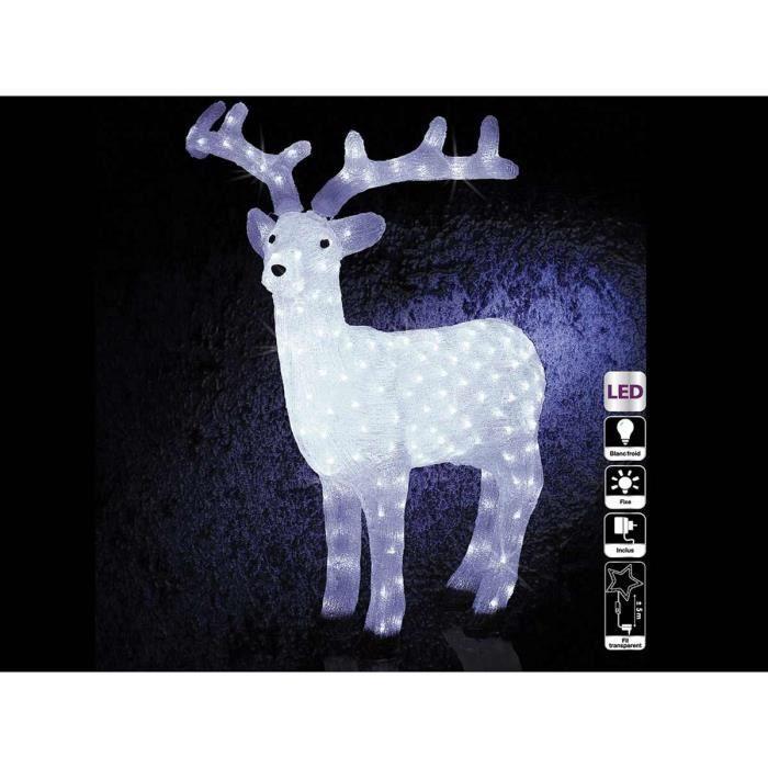 d coration de no l renne lumineux 200 led 105 cm achat. Black Bedroom Furniture Sets. Home Design Ideas