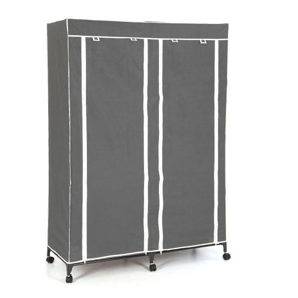 Armoire de rangement 4 etageres et penderie col achat vente armoire de c - Cdiscount armoire de rangement ...