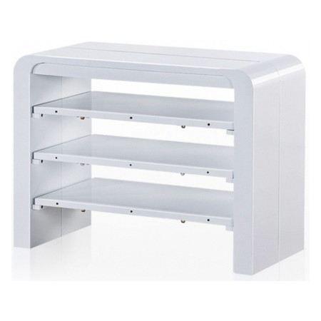 Table console extensible blanc laqu avec rangement zelda 3 rallonges struc - Table console extensible avec rangement ...