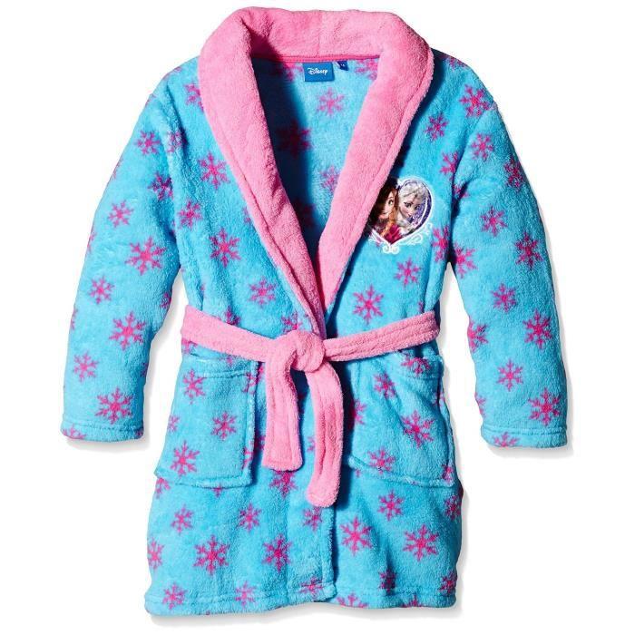 reine des neiges robe de chambre peignoir fille bleu bleu bleu achat vente chemise de nuit. Black Bedroom Furniture Sets. Home Design Ideas