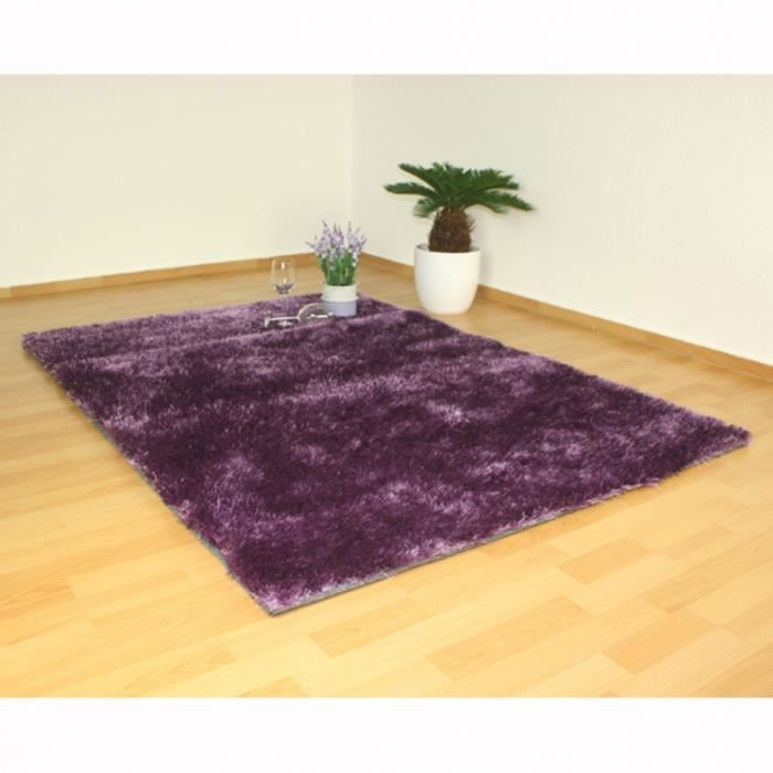 tapis shaggy coloris violet design motif carpet achat vente tapis cdiscount. Black Bedroom Furniture Sets. Home Design Ideas