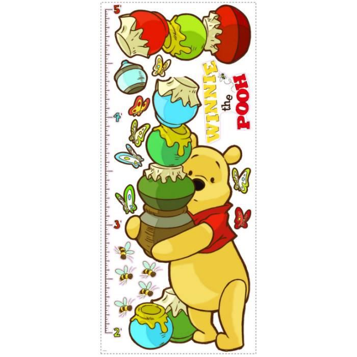 Roommates stickers muraux winnie l 39 ourson toise achat for Decoration murale winnie l ourson