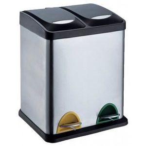 Poubelle tri 2 bacs achat vente poubelle tri 2 bacs pas cher soldes c - Poubelle deux compartiments ...
