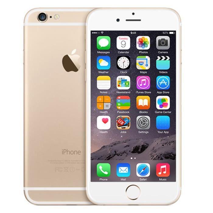 apple iphone 6 d 39 occasion 64gb gsm smartphone sans empreintes digitales version au or achat. Black Bedroom Furniture Sets. Home Design Ideas