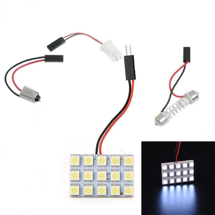 Lampe lumi re blanche pure voiture int rieur 5050 15 smd led voiture t10 ba - Lampe interieur voiture ...