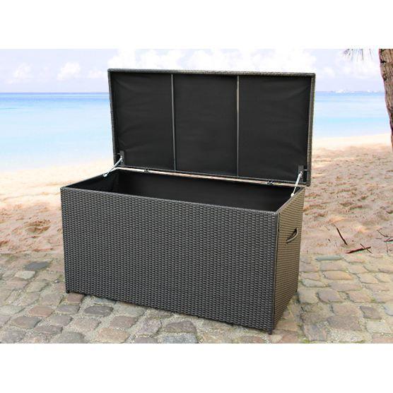 rotin coffre de jardin coffre pour les coussi achat vente coffre d 39 ext rieur rotin coffre. Black Bedroom Furniture Sets. Home Design Ideas