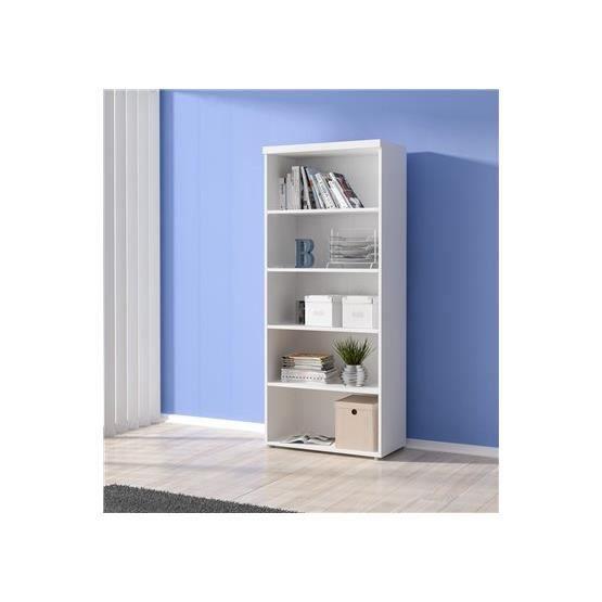 bibliotheque pour bureau carla blanc achat vente armoire de bureau bibliotheque pour bureau. Black Bedroom Furniture Sets. Home Design Ideas