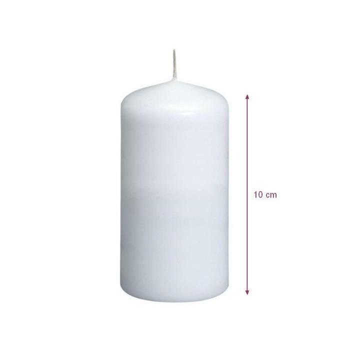 bougie blanche diam 232 tre 50 mm x haut 100 mm dur 233 e de vie 16h achat vente bougie d 233 corative