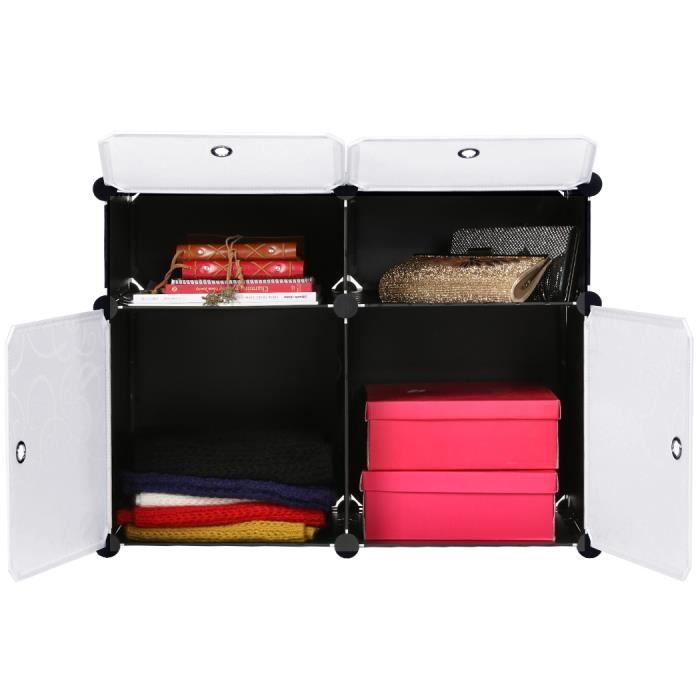 Meuble rangement armoire du lit en plastique rangement for Meuble armoire chambre