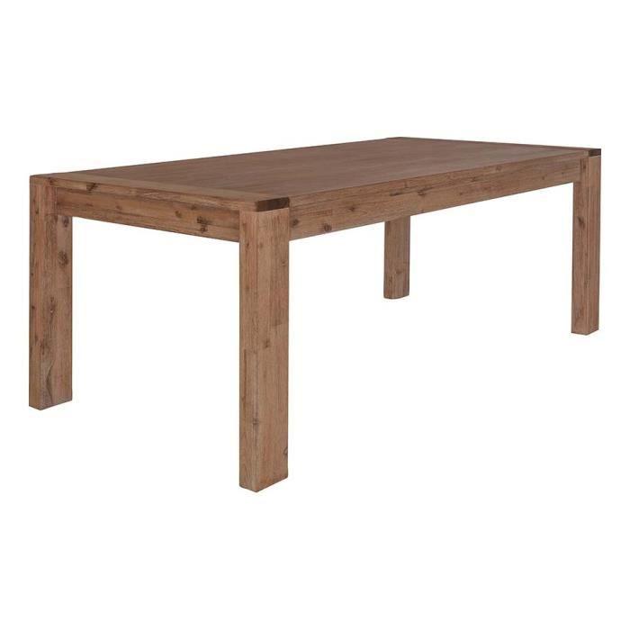 Table repas acacia massif 180 cm allonge 50 achat - Table allonge bebe ...