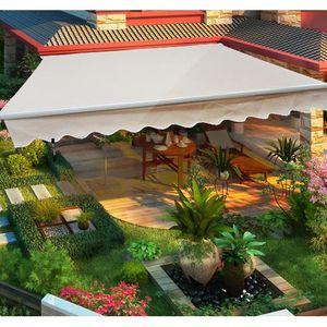 Store banne manuel de jardin terrasse auvent rétra