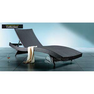 Chaise en resine tressee coloris marron achat vente for Chaise longue en resine tressee pas cher