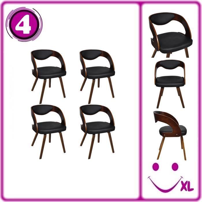 Lot de 4 chaises accoudoirs salle manger en cuir - Fauteuil salle a manger accoudoirs ...