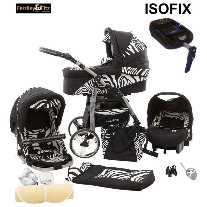 daytona 4 en 1 poussette base isofix 08 noir z bre. Black Bedroom Furniture Sets. Home Design Ideas