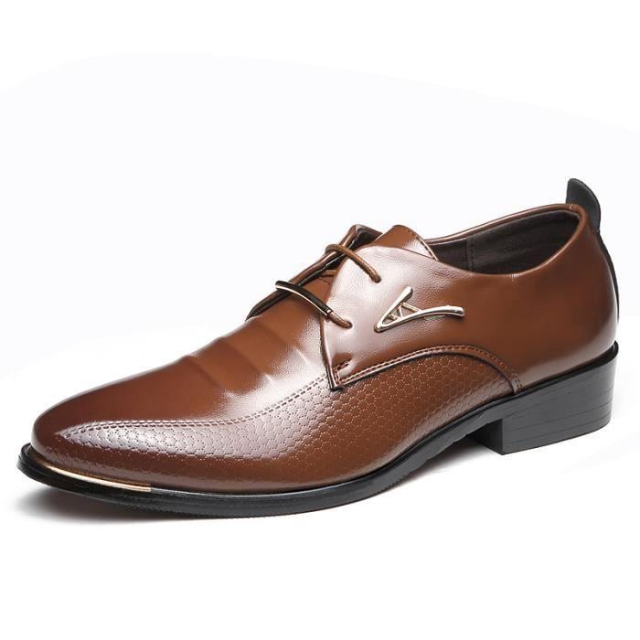 iztpserg derby cuir chaussure homme marron marron achat vente derby soldes cdiscount. Black Bedroom Furniture Sets. Home Design Ideas