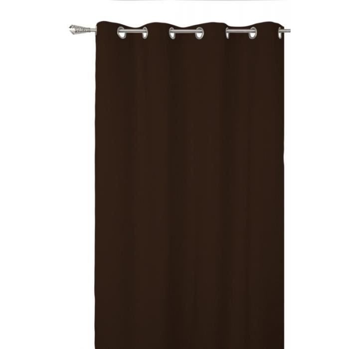 Paire de doubles rideaux illets beverly noir 140 x 260 for Doubles rideaux occultants oeillets