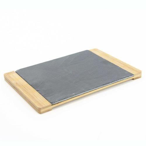 plateau tapas 20 x 30 cm bambou et ardoise achat vente plat de service cdiscount. Black Bedroom Furniture Sets. Home Design Ideas