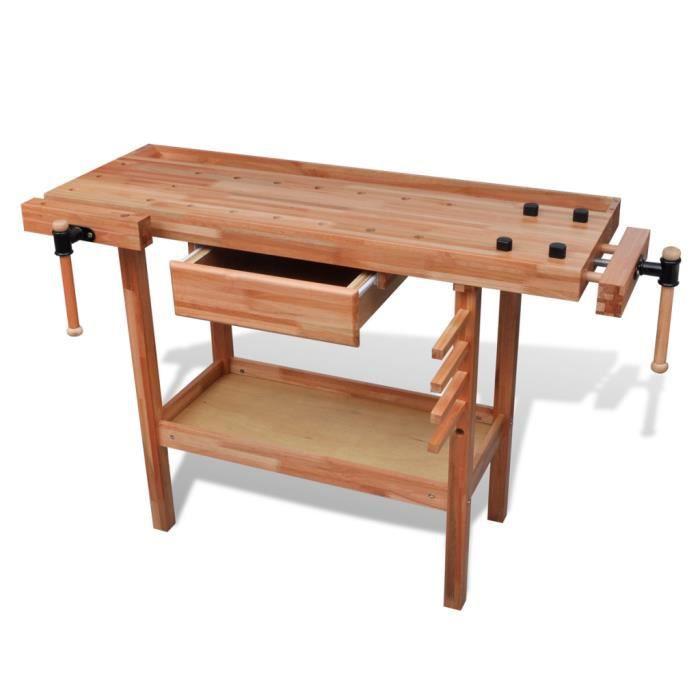 etabli de menuisier en bois avec tiroir et taux achat. Black Bedroom Furniture Sets. Home Design Ideas