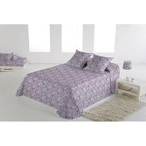 Couvre lit mauve achat vente couvre lit mauve pas cher for Taie d oreiller pour canape