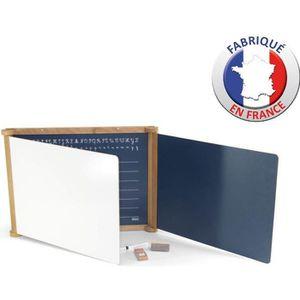 TABLEAU ENFANT Tryptique en Bois - Teinté Chêne 59 x 46 cms