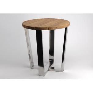 table bout de canap m tal et bois d 39 amadeus achat vente table d 39 appoint table bout de. Black Bedroom Furniture Sets. Home Design Ideas