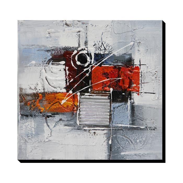 tableaux sur toiles peinture a la main huile rouge achat vente tableaux sur toiles peinture. Black Bedroom Furniture Sets. Home Design Ideas