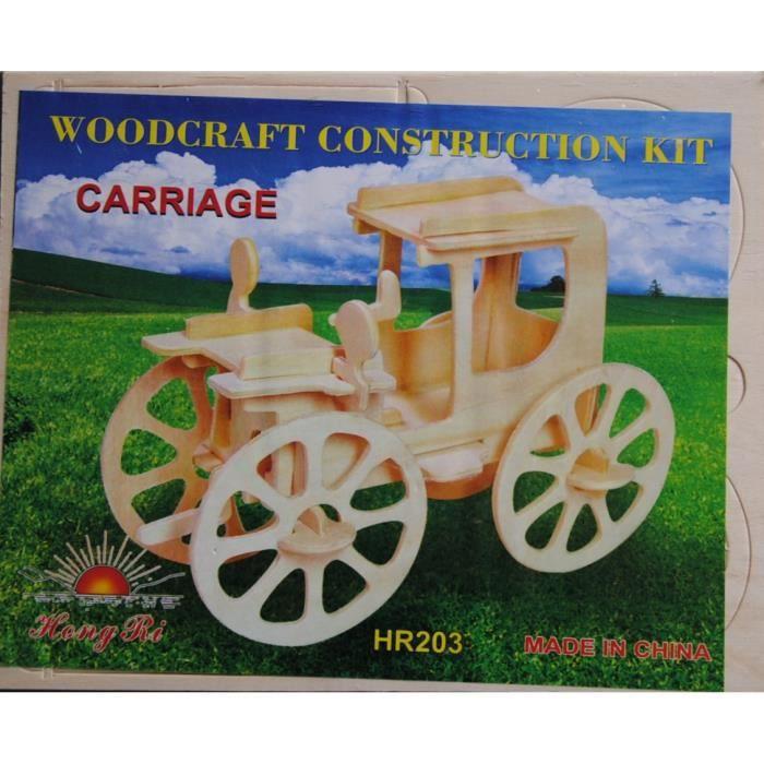 maquette en bois voiture ancienne achat vente voiture construire cdiscount. Black Bedroom Furniture Sets. Home Design Ideas