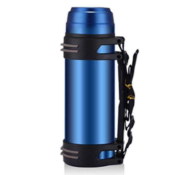 2l thermos flacon acier inoxydable bouteille alimentaire isotherme poignet randonn e camping. Black Bedroom Furniture Sets. Home Design Ideas