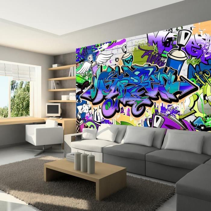 Papier peint intiss graffiti 200x140 cm 4 l s achat - Papier peint intisse pas cher ...