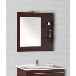 Miroir avec applique et tag res cm achat vente miroir sall - Miroir salle de bain avec etagere ...