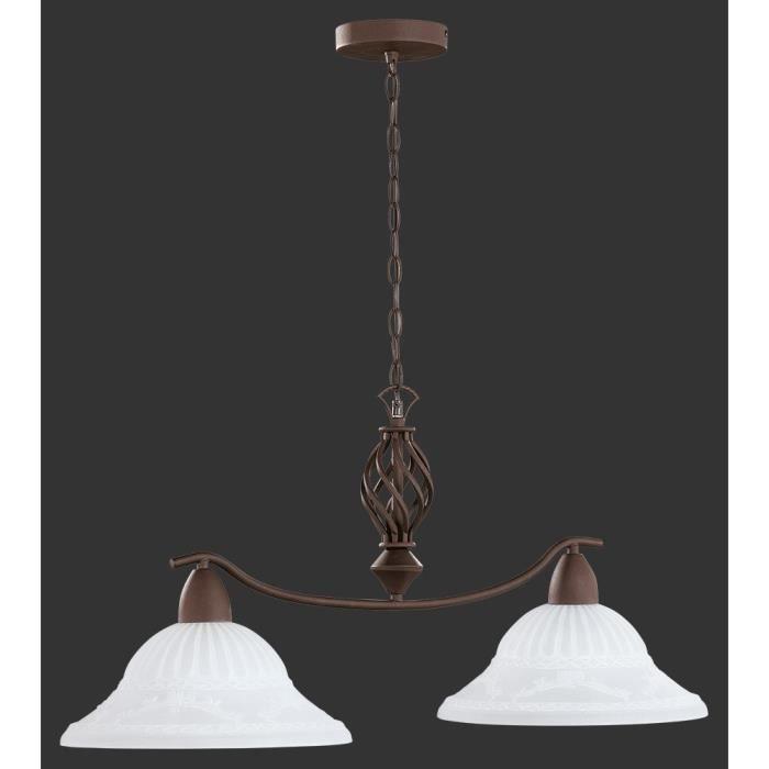 suspension longue 83 cm 2 ampoules en m tal cou achat vente suspension longue 83 cm 2 a. Black Bedroom Furniture Sets. Home Design Ideas