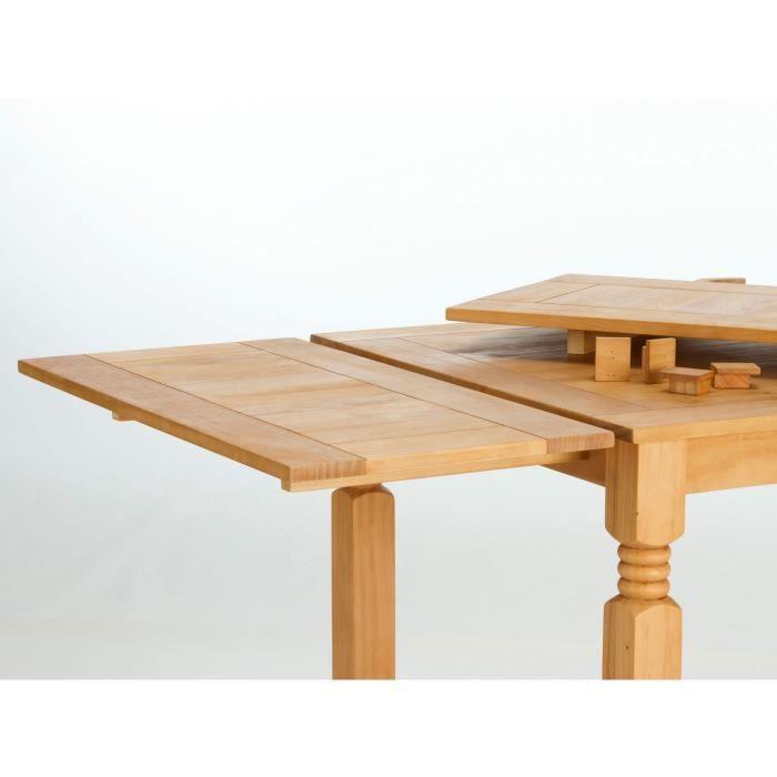 2 rallonges de 40 cm pour table manger sierra en pin for Table pour manger