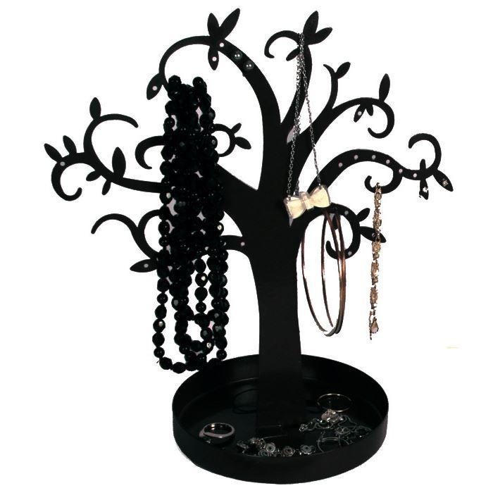 arbre porte bijoux pr sentoir m tal noir achat vente pr sentoir bijoux arbre porte bijoux. Black Bedroom Furniture Sets. Home Design Ideas