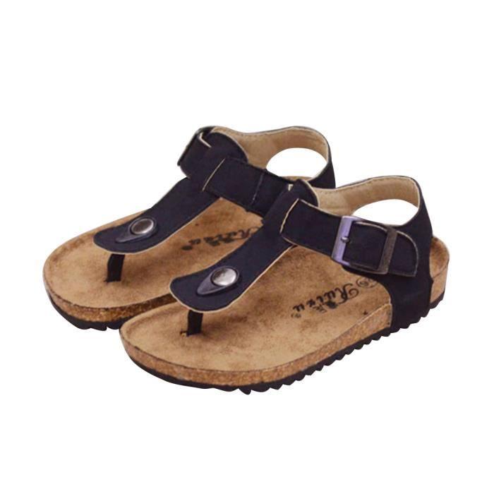 popgarden enfants unisexes li ge semelle tongs sandales chaussures de plage avec cheville. Black Bedroom Furniture Sets. Home Design Ideas