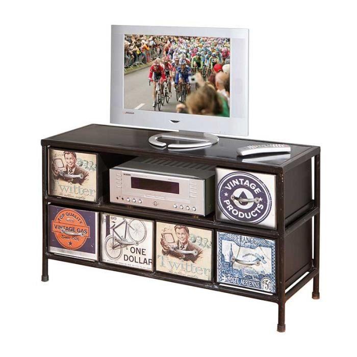 Paris prix meuble tv new orleans marron achat for Prix meuble tv