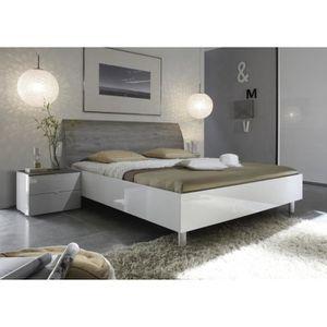 tete de lit 160 bois blanc achat vente tete de lit 160. Black Bedroom Furniture Sets. Home Design Ideas